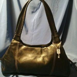 Fossil Classic black leather handbag